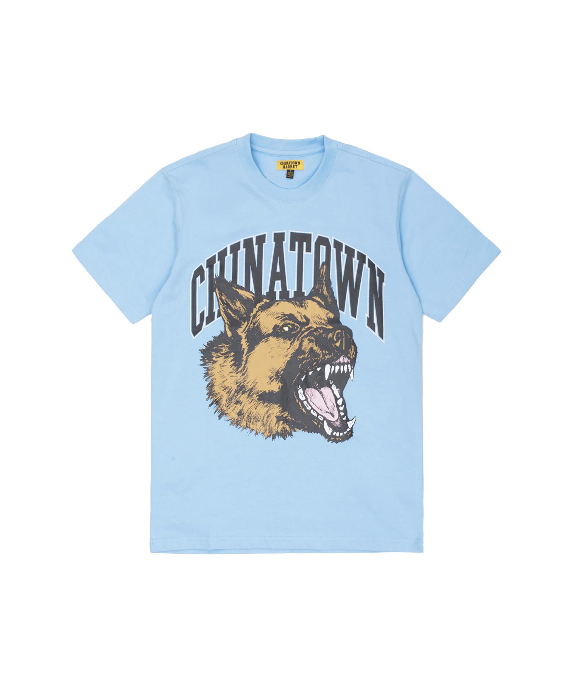 Chinatown Market Beware T-Shirt Light Blue