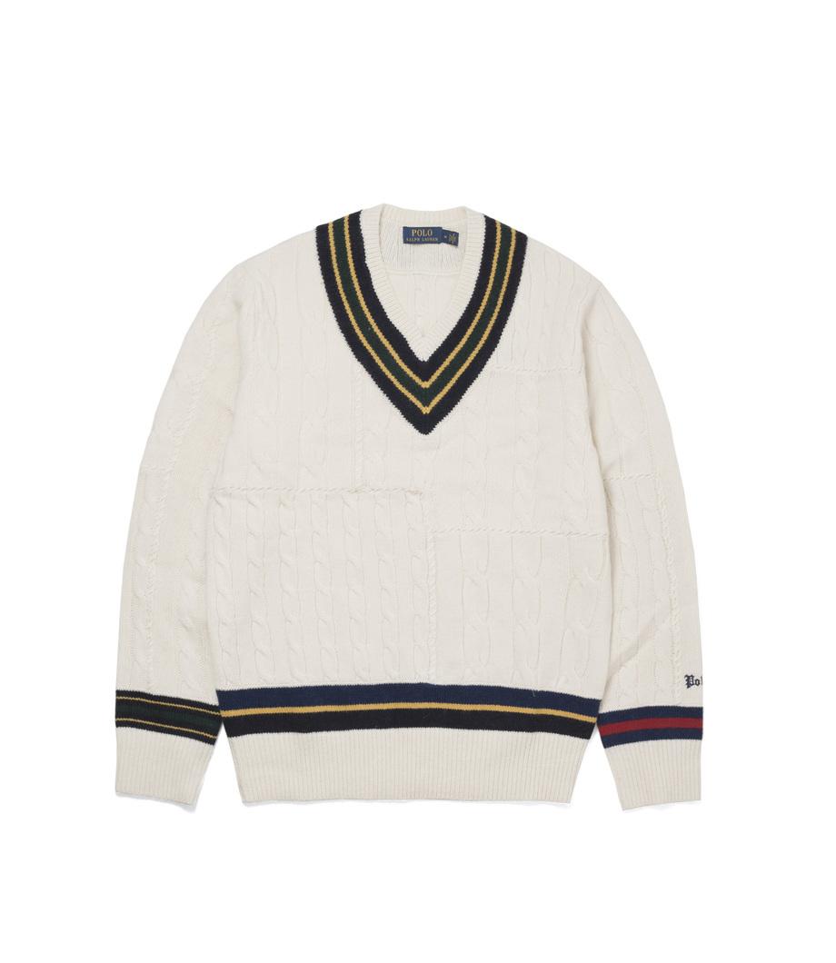 0220dfd018cb9 Ralph Lauren The Iconic Cricket Sweater Cream