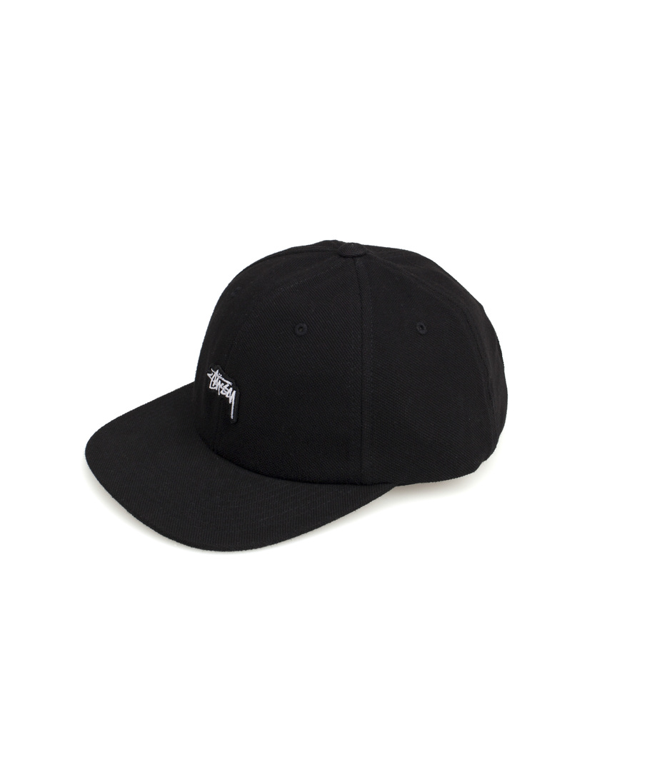 Stussy. Stussy Stock Pique Cap Black 8fee91a7a47