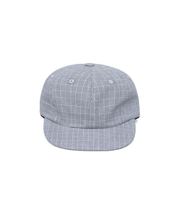 ee300f3e Très Bien 6 Panel Hat Small Checks Blue