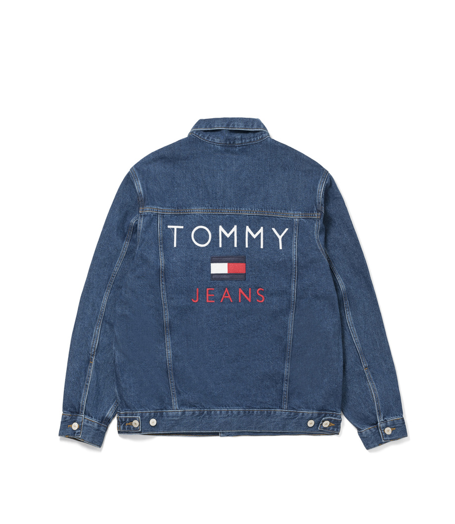 tommy jeans 90 39 s denim jacket blue. Black Bedroom Furniture Sets. Home Design Ideas