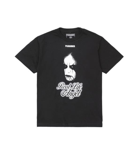 def23d14 PLEASURES Angel T-Shirt Black